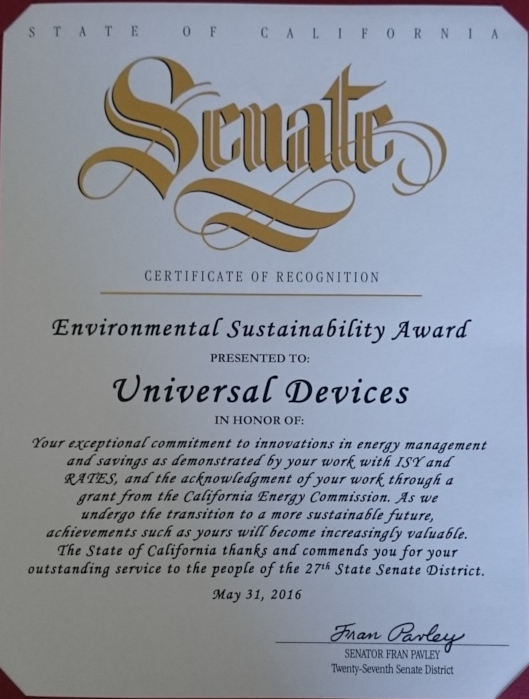 Environmental Sustainability Award