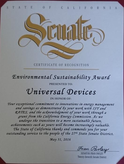 Environmental Sustainability Award